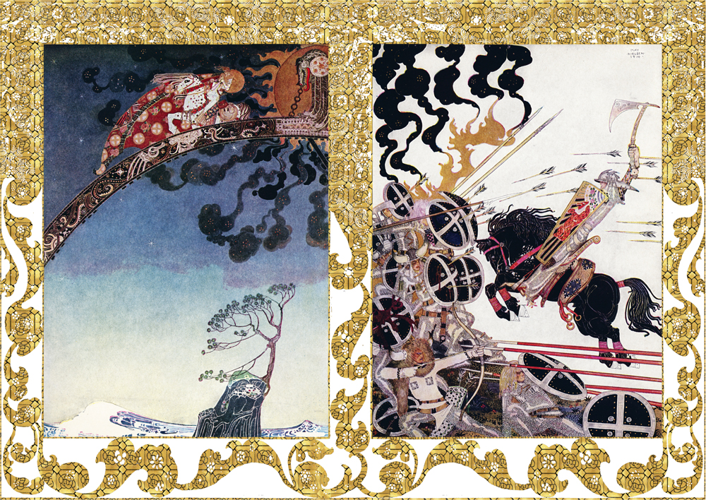 Two illustrations by Kay Nielsen